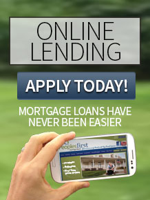 Image Description: hand with phone, trees in bg. Image text reads 'Online Lending, Mortgage Loans Have Never Been Easier', Click to Apply Today!